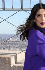 PRIYANKA CHOPRA at The Empire State Building in New York 11/11/2016
