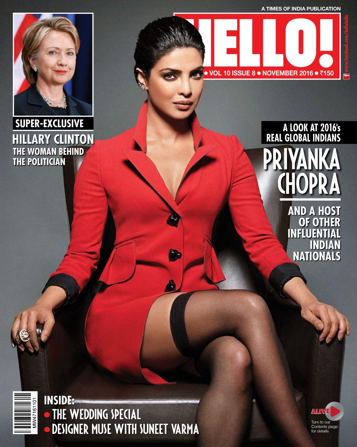 PRIYANKA CHOPRA in Hello! Magazine, India November 2016 Issue