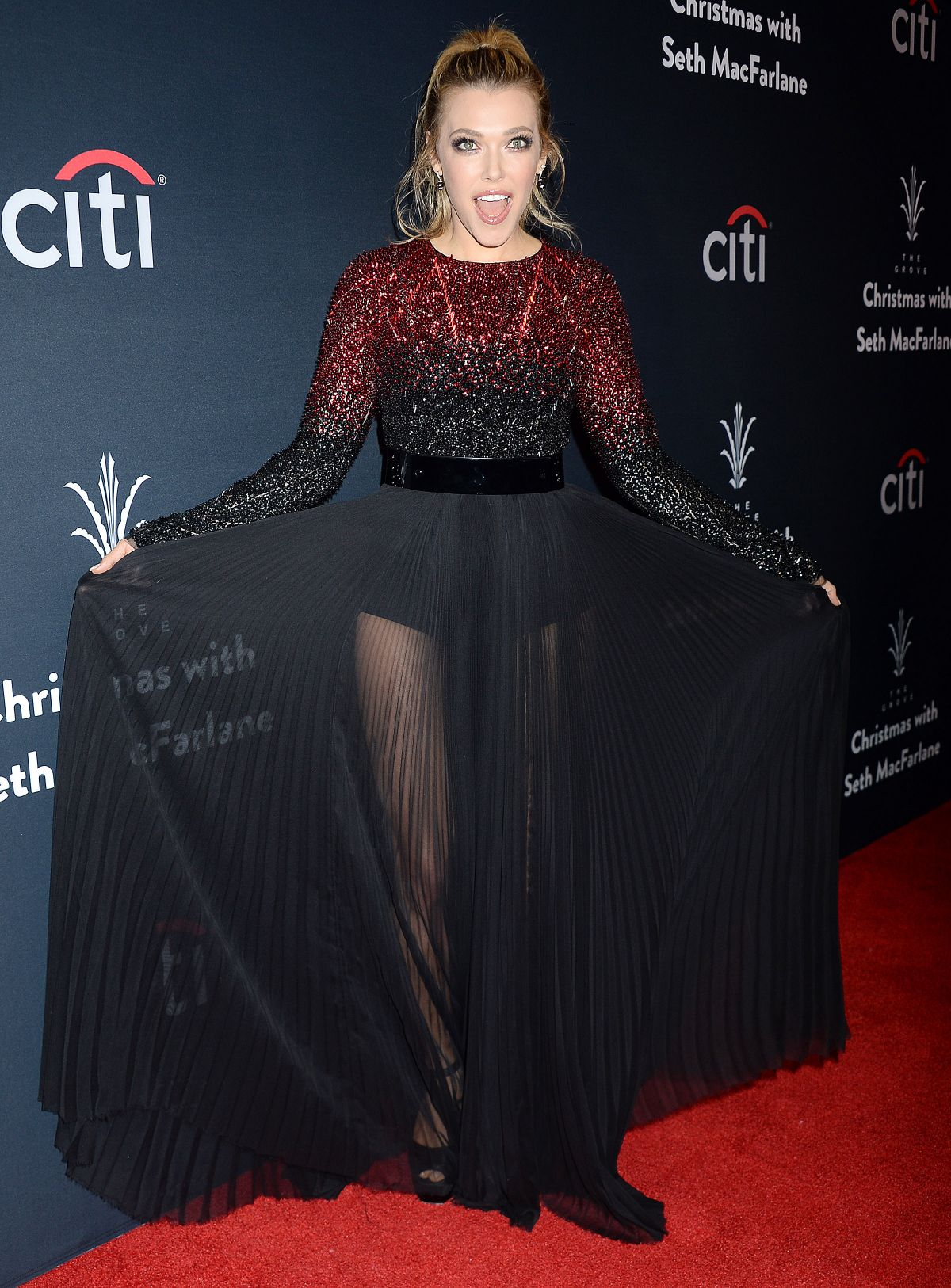 RACHEL PLATTEN at The Grove Christmas with Seth MacFarlane Presented by Citi in Los Angeles 11/13/2016
