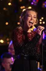 RACHEL PLATTEN Performs at The Grove Christmas with Seth MacFarlane in Los Angeles 11/14/2016