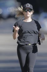 REESE WITHERSPOON in Tight Out Jogging in Brentwood 11/10/2016
