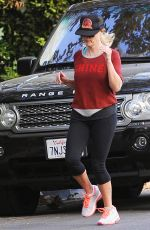 REESE WITHERSPOON Out Jogging in Brentwood 11/17/2016