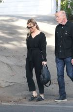 RENEE ZELLWEGER Out and About in Hollywood Hills 11/06/2016