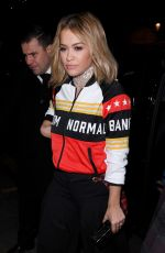 RITA ORA Arrives at Adidas Dinner in London 11/23/2016