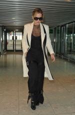 RITA ORA at heathrow Airport in London 11/10/2016
