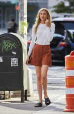 ROMEE STRIJD in Skirt Out in New York 11/08/2016