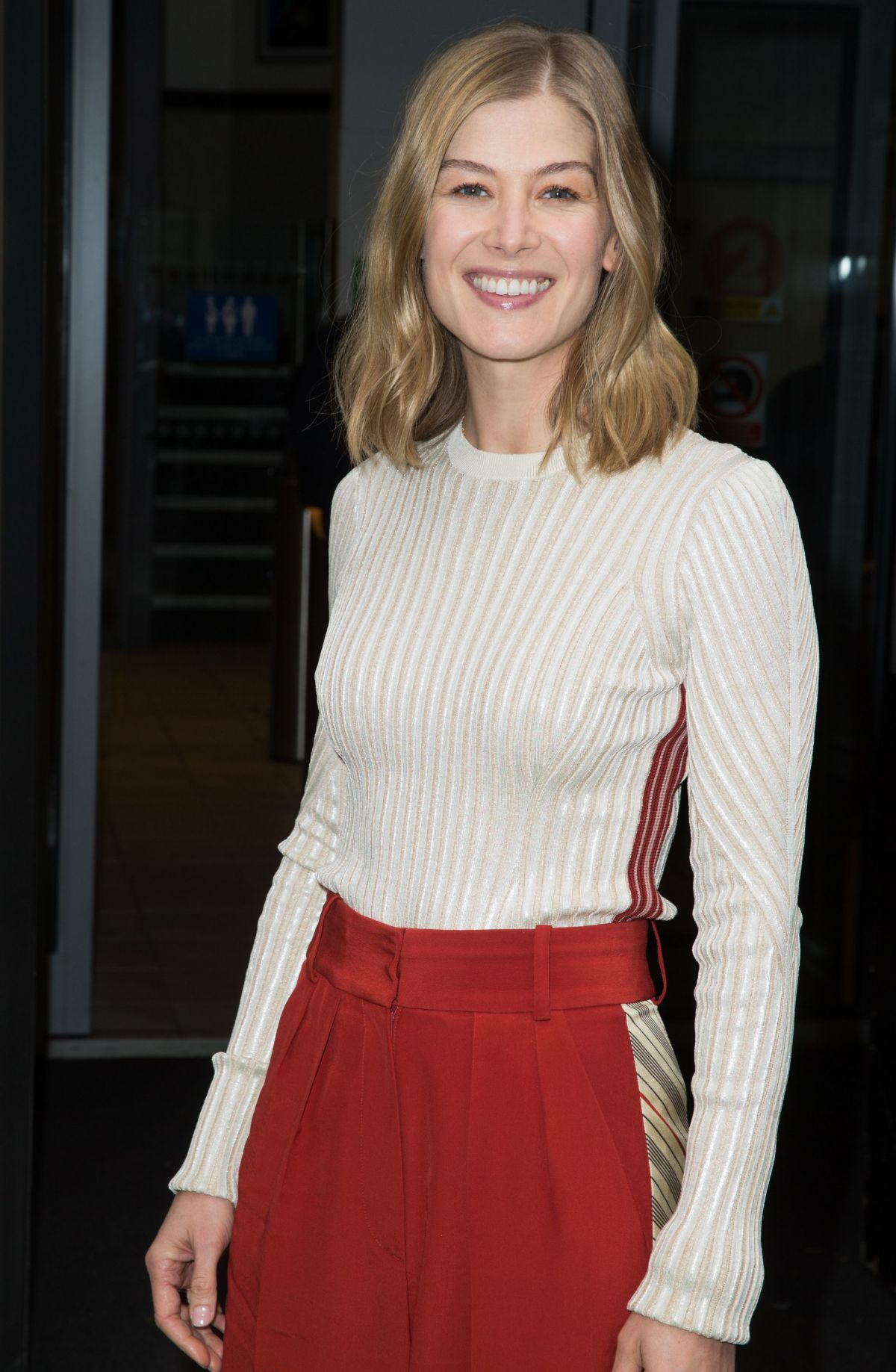 ROSAMUND PIKE Leaves BBC Radio 2 Studios in London 11/04 ...