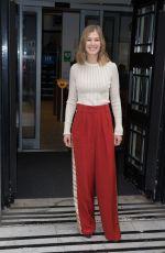 ROSAMUND PIKE Leaves BBC Radio 2 Studios in London 11/04/2016