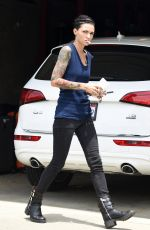 RUBY ROSE Showing Her Tatooed Arms in Los Angeles 10/06/2016
