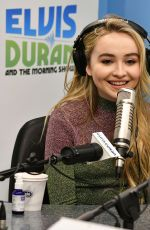 SABRINA CARPENTER at Elvis Duran Z100 Morning Show in New York 11/21/2016