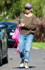 SARAH MICHELLE GELLAR in Ripped Jeans Out in Los Angeles 11/13/2016