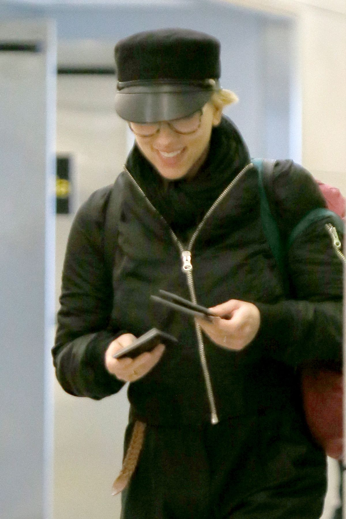 SCARLETT JOHANSSON at JFK Airport in New York 10/31/2016