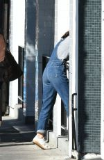 SELMA BLAIR in Jeans Overalls Out in Los Angeles 11/03/2016