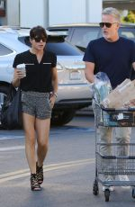 SELMA BLAIR in Shorts Shopping at Bristol Farms in West Hollywood 11/11/2016