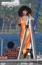 SOLANGE KNOWLES on a Yacht in Florida 11/23/2016