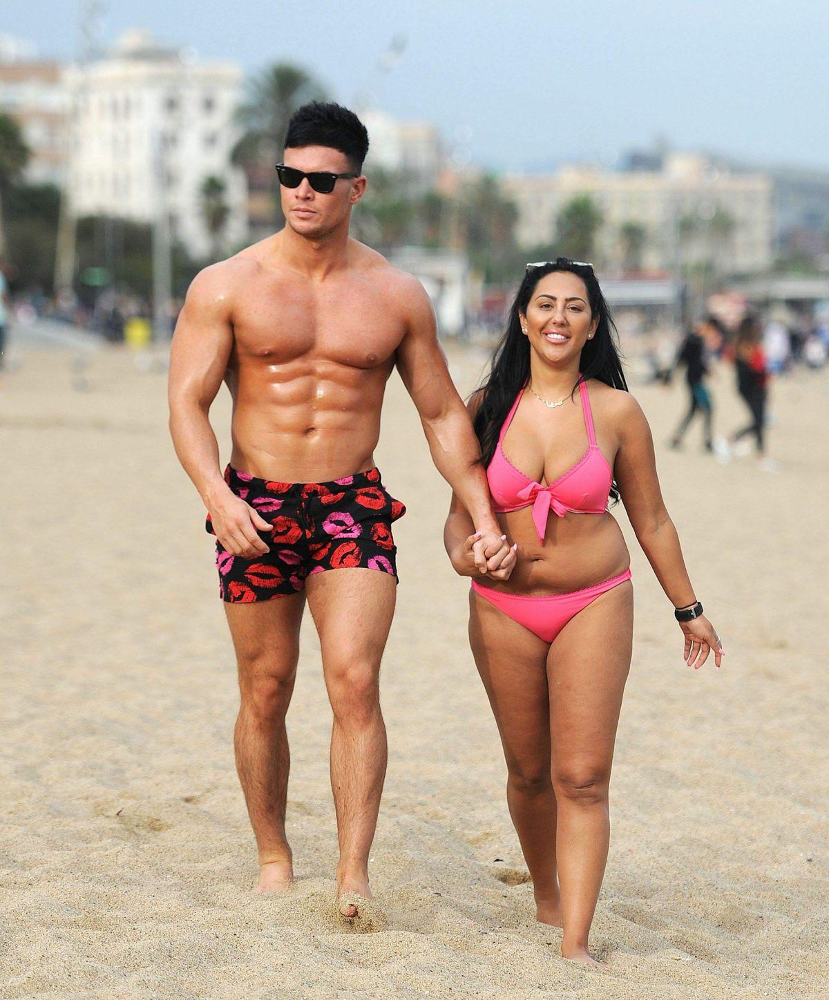 SOPHIE KASAEI in Bikini at a Beach in Barcelona 11/05/2016