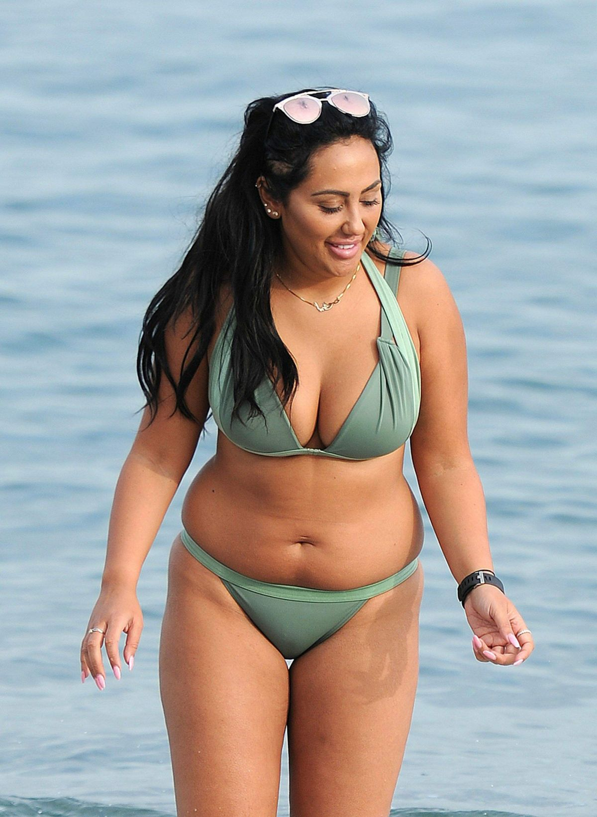 SOPHIE KASAEI in Bikini on the Beach in Barcelona 11/12/2016