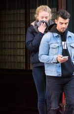 SOPHIE TURNER and Joe Jonas Out in Ney York 11/23/2016