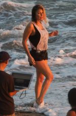 STACY FERGIE FERGUSON on the Set of a Music Video in Malibu Beach 11/14/2016