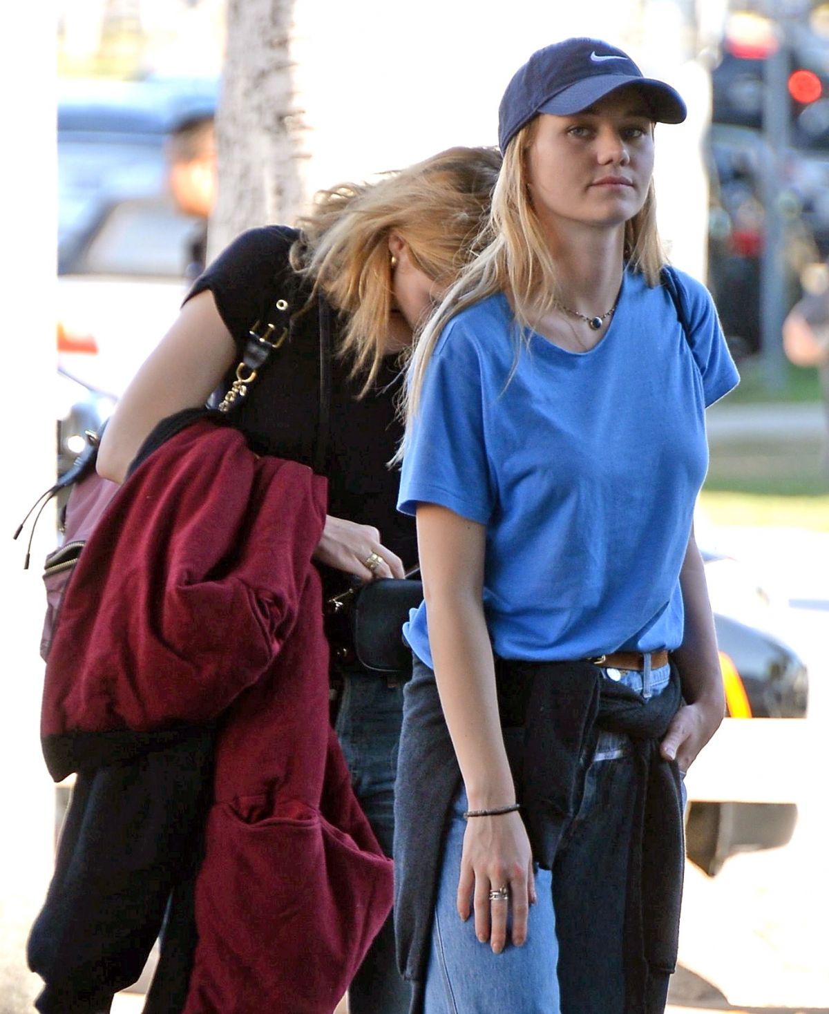 SUKI and IMMY WATERHOUSE with No Makeup Arrives at a Salon in West Hollywood 11/09/2016