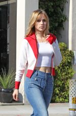 SUKI WATERHOUSE in Jeans Out in Los Angeles 11/26/2016