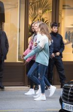 RACHEL HILBERT and GRACE ELIZABETH Out and About in Paris 11/28/2016