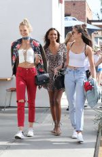 TAYLOR HILL, JASMINE TOOKES and ROMEE STRIJD Out and About in Venice 11/06/2016