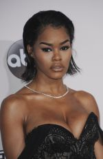 TEYANA TAYLOR at 2016 American Music Awards at The Microsoft Theater in Los Angeles 11/20/2016