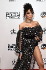 TINASHE at 2016 American Music Awards at The Microsoft Theater in Los Angeles 11/20/2016
