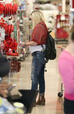 TORI SPELLING Out Shopping in Encino 11/25/2016