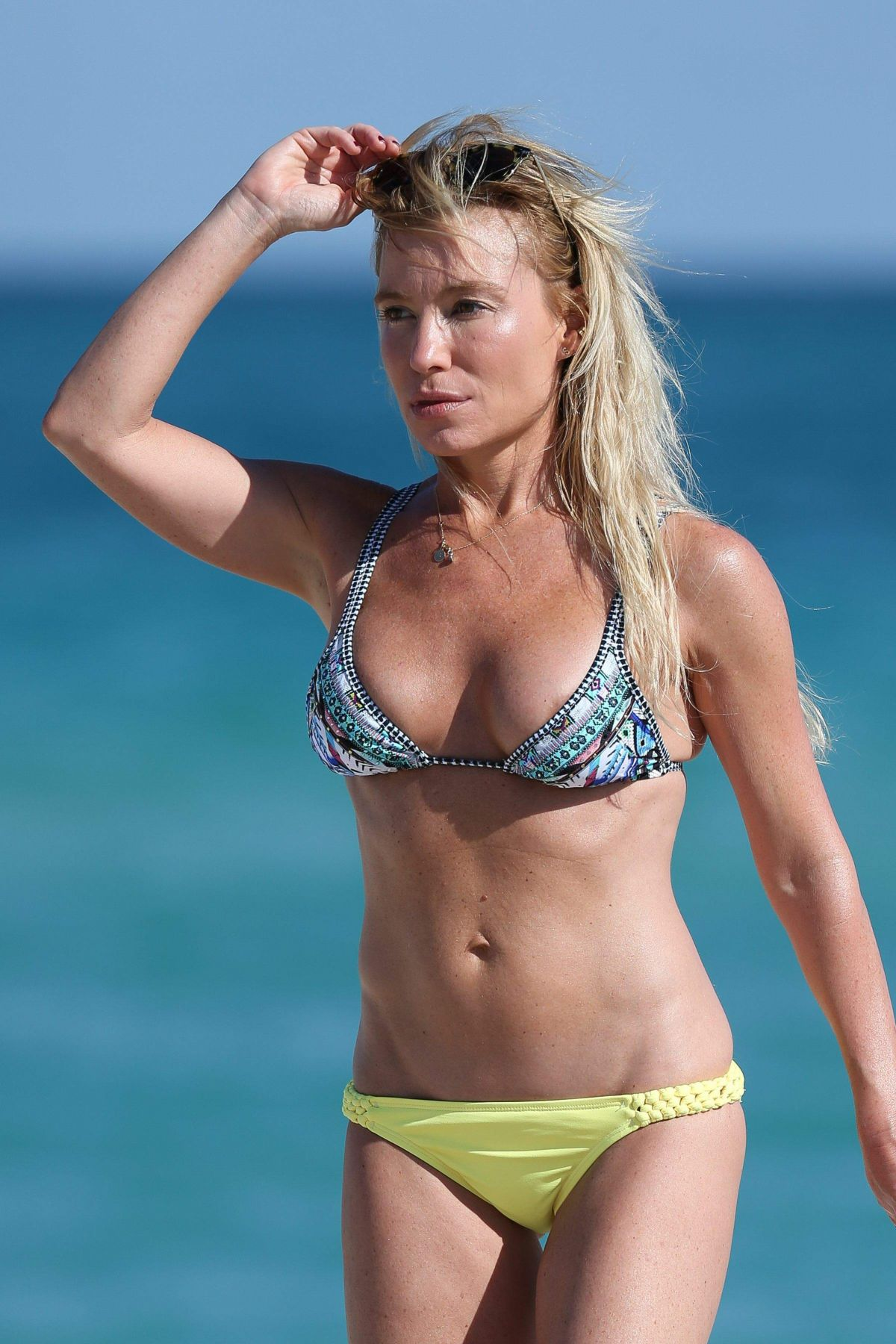 TRACY ANDERSON in Bikini at a Beach in Miami 11/19/2016