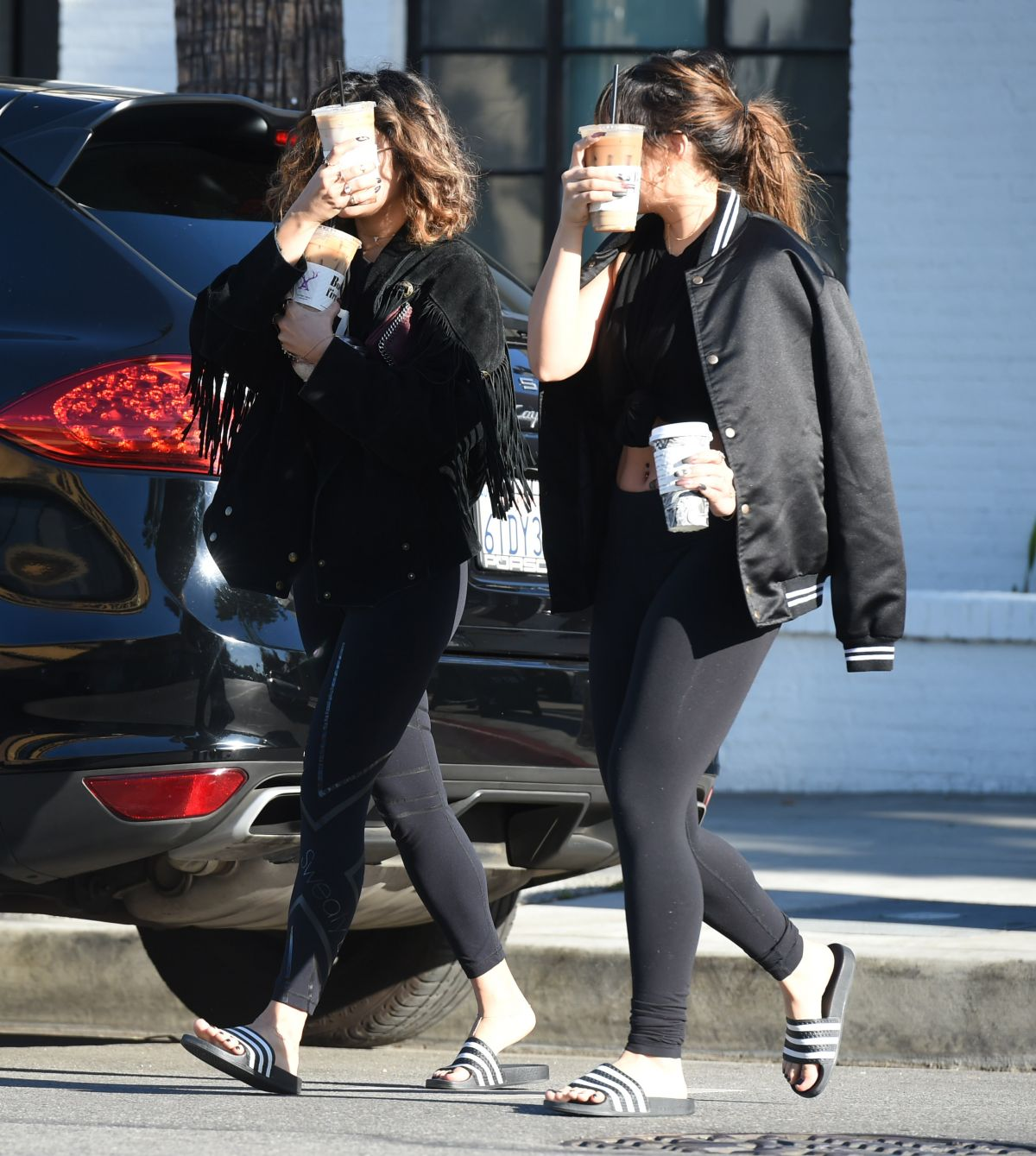 VANESSA and STELLA HUDGENS Out in Los Angeles 11/04/2016