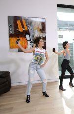 VANESSA HUDGENS Playing Just Dance 2017