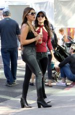 VICTORIA JUSTICE and MADISON REED at Farmers Market in Los Angeles 11/06/2016