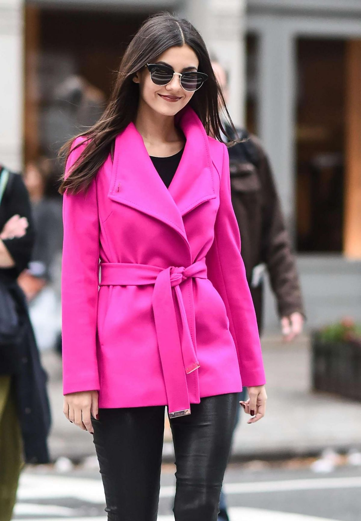 VICTORIA JUSTICE Out and About in New York 11/04/2016