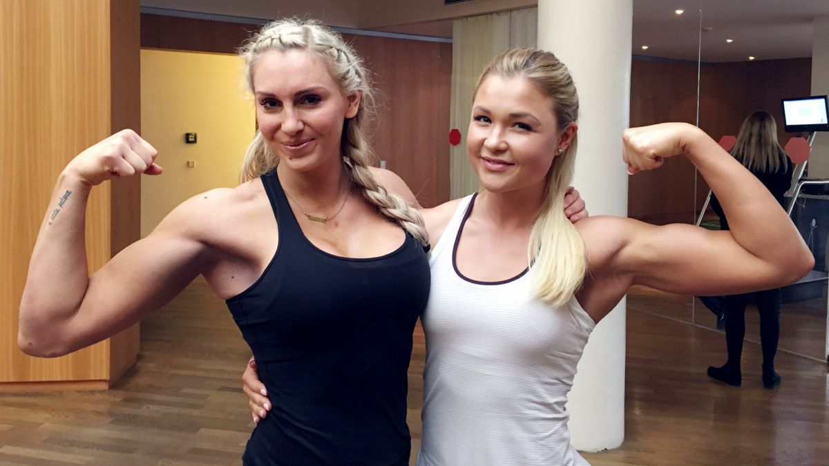 WWE - Charlotte Flair Works Out with Sophia Thiel in Munich, November 2016