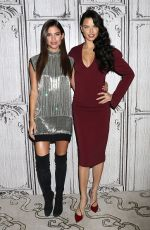 ADRIANA LIMA and SARA SAMPAIO at AOL Build in New York 12/05/2016