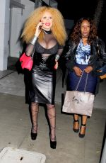 AFIDA TURNER Night Out in Beverly Hills 12/22/2016