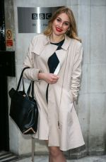 ALANA SPENCER at BBC Radio 2 Studios in London 12/19/2016