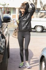 ALESSANDRA AMBROSIO Heading to a Gym in Los Angeles 12/09/2016