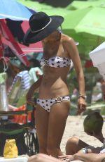 ALESSANDRA AMBROSIO in Bikini on the Beach in Florianopolis 12/29/2016
