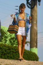 ALESSANDRA AMBROSIO in Bikini Top in Florianopolis 12/27/2016