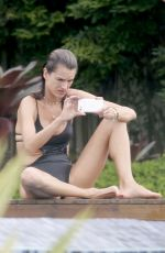 ALESSANDRA AMBROSIO in Swimsuit at a Pool in Santa Catarina 12/30/2016