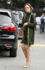 ALESSANDRA AMBROSIO Out and About in Los Angeles 12/09/2016