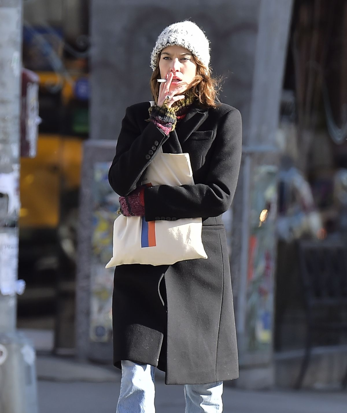 ALEXA CHUNG Out and About in New York 12/09/2016