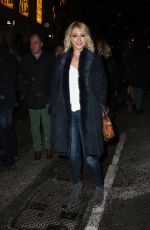 ALI BASTIAN at a Christmas Carol Play in London 12/20/2016