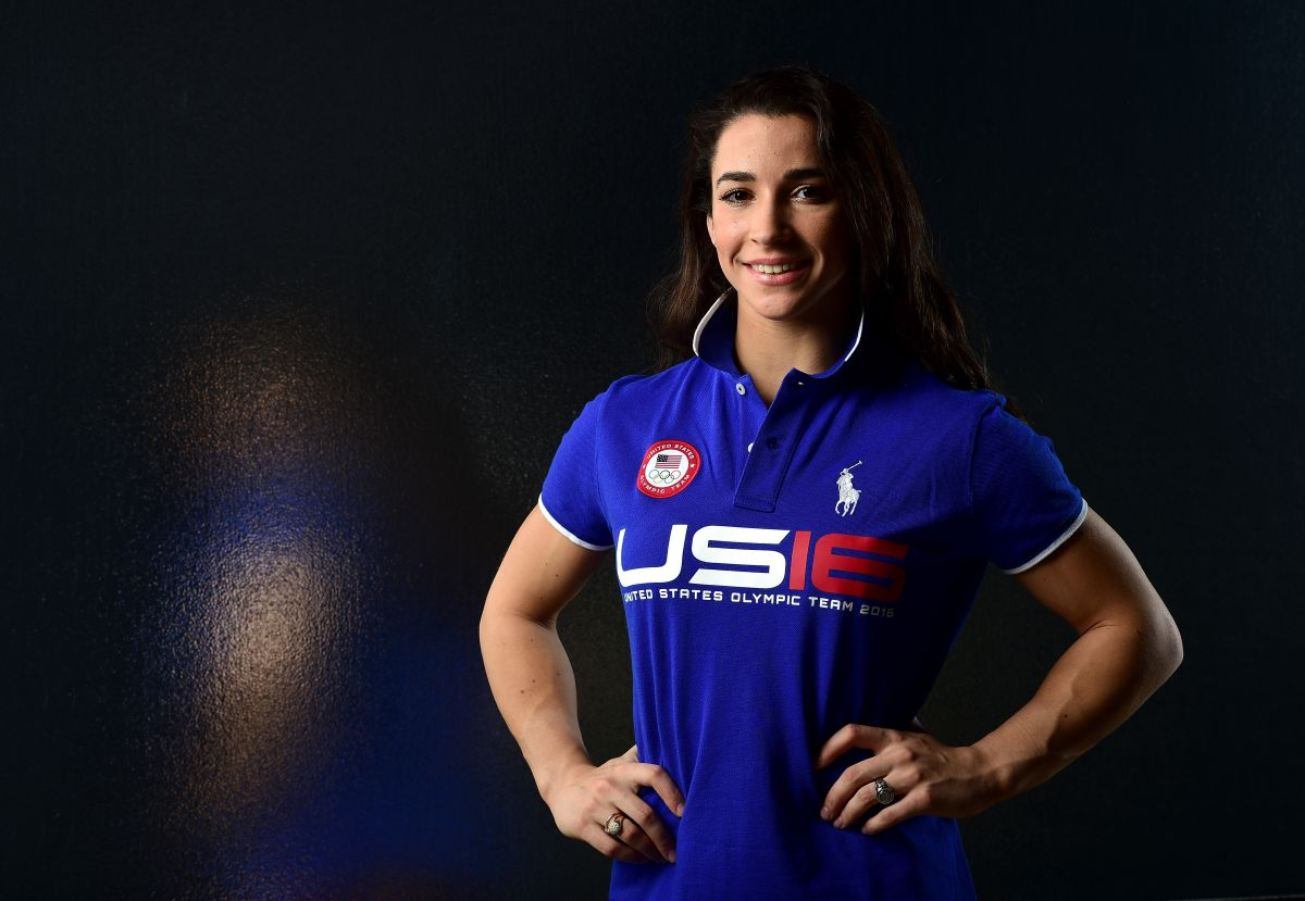 Gymnast Aly Raisman poses for a portrait at the USOC Rio Olympics News Photo - Getty Images