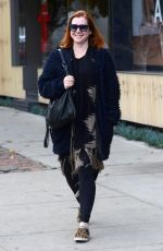 ALYSON HANNIGAN Out for Shopping in Los Angeles 12/12/2016
