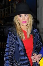 AMANDA HOLDEN Leaves Dominion Theatre after Performing