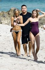 AMANDA KAYLOR and CALLIE CATTANEO in Bikinis on the Beach in Miami 12/15/2016